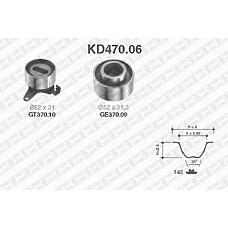 SNR KD470.06 (B66012730C / B66012700F / MAZDKD029) рем.к-кт грм\ Kia (Киа) sephia, Mazda (Мазда) 323 ba / bg / mx-3 / xedos6 1.6 / 1.8 dohc 89-00