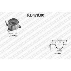 SNR KD479.00 (1350587102 / KD47900) рем.к-кт грм\ daihatsu feroza / applause 1.6 16v 88-97