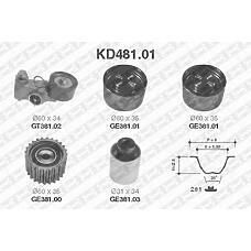 SNR kd481.01 (KD48101) комплект ремня грм
