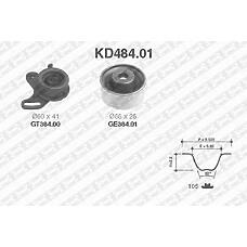 SNR KD484.01 (2441026000 / 2441022020 / 2481026020) рем.к-кт грм\ Hyundai (Хендай) Accent (Акцент) 1.5 / 1.6 / Elantra (Элантра) / Getz (Гетц) 1.6 00>