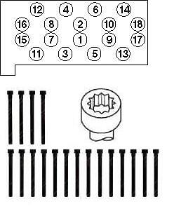 комплект болтов гбц \ mb w202 / w210 2.0d / 2.2d / td 16v om604 93-98 (18)