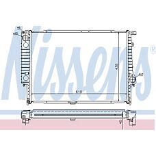 NISSENS 60596A (17111709458 / 17111723689 / 1723689) радиатор BMW (БМВ) e34 3.0-3.8 88-98