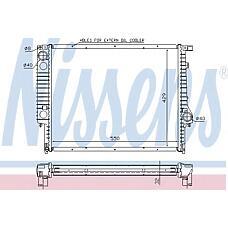 NISSENS 60759A (17111728908 / 1728908 / 1707929) радиатор охлаждения двигателя BMW (БМВ) 3 e36 (90-) 320 i