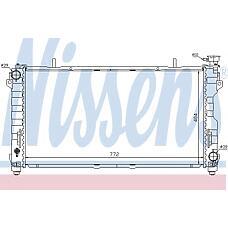NISSENS 61005 (4809225 / 4677523AA / 4809168) радиатор системы охлаждения\ Chrysler (Крайслер) town&country / Voyager (Вояджер) 3.3 / 3.8 00>