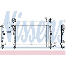 NISSENS 61875A (1301P2 / 1301P3 / 1301Y4) радиатор системы охлаждения\ Peugeot (Пежо) 806, Fiat (Фиат) Scudo (Скудо) 1.9d / td / 2.1td 94>