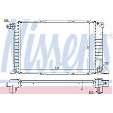 NISSENS 62080A (7242486 / 1023920 / 97VB8005AD) радиатор двигателя