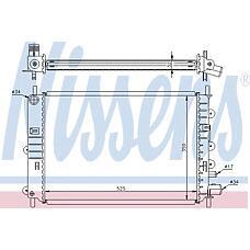 NISSENS 62217A (6912233 / 6616483 / 6912237) радиатор двигателя