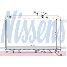 NISSENS 62458 (N3H615200C / N3H115200C / N3H615200D) радиатор охлаждения двигателя Mazda (Мазда) rx-8 (03-) 1.3 wankel