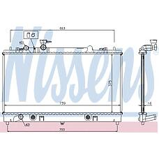 NISSENS 62465A (L32815200 / L32815200A / L32815200B) радиатор двигателя