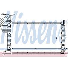 NISSENS 62664A (9015003100 / A9015003100 / 62664A_NS) радиатор охлаждения двигателя