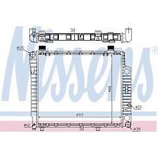 NISSENS 62754A (2025003403 / 2025002903 / A2025002903) радиатор охлаждения двигателя Mercedes (Мерседес) c-class w 202 (93-) c 200 d