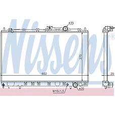 NISSENS 628431 (MB924972 / MB890506 / MB660566) радиатор охлаждения двигателя