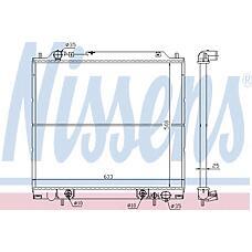 NISSENS 62855 (MR127283 / MR127889 / MR126103) радиатор охлаждения двигателя
