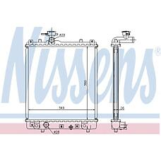 NISSENS 63014A (1300220 / 1770083E00 / 9208632) радиатор охлаждения двигателя vauxhall agila a (00-) 1.0 I 12v