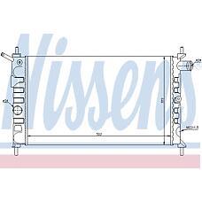 NISSENS 63293 (90411883 / 1300114) радиатор op Astra (Астра) f 1,4 - 1,6