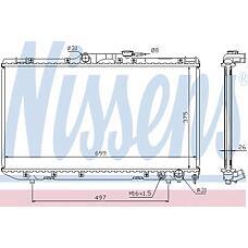 NISSENS 64664a (1640064730 / 1640064731 / 164000B010) радиатор двигателя