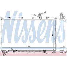NISSENS 67505 (253102B000 / 253102B100 / 253100W000) радиатор двигателя