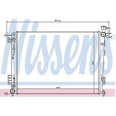NISSENS 67514 (253102Y500 / 253102S550 / 253102Y510) радиатор охлаждения двигателя