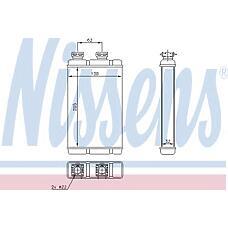 NISSENS 70513 (64118372771 / 8372771 / 70513_NS) радиатор отопителя