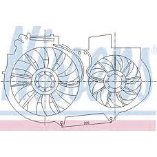 NISSENS 85247 (8E0959455B / 8E0959455K / 8E0959455) вентилятор охлаждения\ Audi (Ауди) a4 1.8t 00>