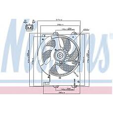 NISSENS 85267 (PGF101140 / 85267_NS / NS85267) вентилятор охлаждения\ rover 25 / 45 1.4 / 1.6i 99>