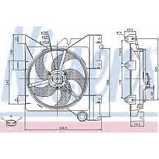 NISSENS 85316 (1253A7 / 125396 / 1308V7) вентилятор охлаждения\ Citroen (Ситроен) Xsara (Ксара) 2.6-2.0 99>
