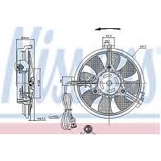 NISSENS 85519 (8D0959455C / 4B0959455 / 8D0959455) вентилятор радиатора двигателя