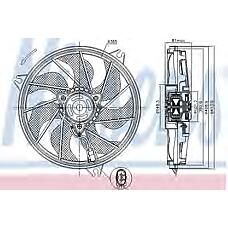 NISSENS 85607 (1253C9 / 1253C7 / 125480) вентилятор охлаждения\ Peugeot (Пежо) 206 1.1-1.6 00>