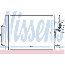 NISSENS 940044 (1405365 / 1437112 / 30794544) радиатор кондиционера Ford (Форд) Mondeo (Мондео) IV 1,6-2,5l 07->