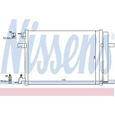 NISSENS 940134 (13267648 / 1850136 / 13377762) радиатор кондиционера внешний