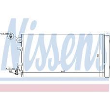 NISSENS 940195 (921000005R / 940195_NS) радиатор кондиционера внешний