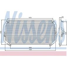 NISSENS 94331 (081655 / 96088735 / 8846020370) радиатор кондиционера