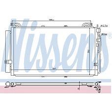 NISSENS 94644 (9760617000 / 9760617001 / 35477) радиатор кондиционера