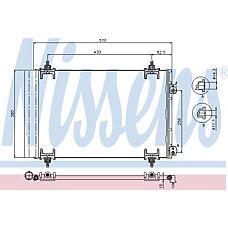 NISSENS 94826 (6455CX / 6455GH / 6455EW) радиатор конд.\ Citroen (Ситроен) c4 1.6hdi-2.0hdi 04> с осушит.