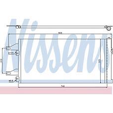 NISSENS 94985 (6455EP / 6455HC / 6455EQ) радиатор конд.\ Fiat (Фиат) ducato, Peugeot (Пежо) Boxer (Боксер) all 06>