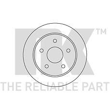 NK 202522 (5022949 / 6158215 / 5022669) диски торм. Ford (Форд) Scorpio (Скорпио) задн. 1шт