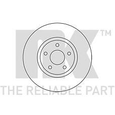 NK 202581 (1500159 / 1514427 / 7G911125EA) диск тормозной