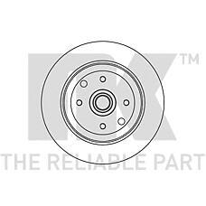 NK 203616 (569204 / 90348319 / 90250703) диск тормозной