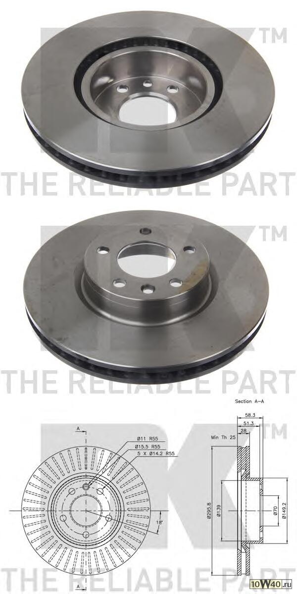 диск тормозной передний\ opel omega 2.0-3.0 94>