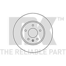 NK 203666 (96625948 / 4808848 / 20955857) диск тормозной