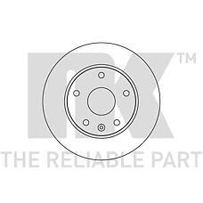 NK 205006 (96238673 / 96218420) диск тормозной