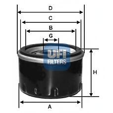 UFI 2327900 (7701349452 / 46519728 / 60814435) фильтр масляный volvo