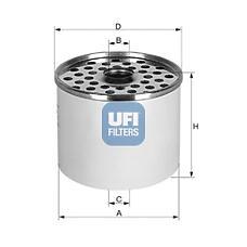 UFI 24.361.00 (7701028181 / 190614 / 1583371) фильтр топливный (м)\ rvi g280 / r21, iveco, Ford (Форд) granada / Scorpio (Скорпио) 2.5 d / td <94