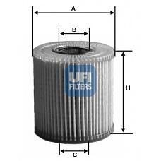 UFI 25.018.00 (1275810 / 1275811 / 12758116) фильтр масляный\ Volvo (Вольво) s40 / v40 1.6-2.0 97> / s80 2.0-3.0 98> / s60 2.0-2.5 00>