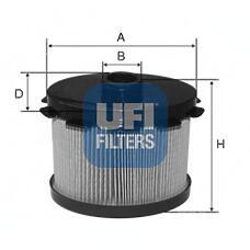 UFI 26.688.00 (190648 / 190649 / 9628890680) фильтр топливный\ Citroen (Ситроен) xsara, Peugeot (Пежо) 206 / 306 1.9d 98>