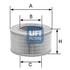 UFI 27.177.00 (6162292 / 6497632 / 89BF9601AA) фильтр воздушный\ Ford (Форд) Escort (Эскорт) / Fiesta (Фиеста) 1.3 88-96