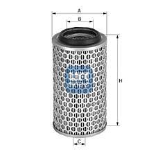 UFI 27.283.00 (0030943904 / 30943904 / A0030943904) фильтр воздушный\ mb 100d 2.4d om616 88-93