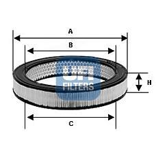 UFI 2792700 (4434951 / 4402070 / 4406095) фильтр воздушный fiat