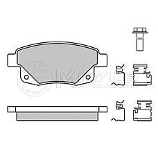 MEYLE 0252448617/W (1433958 / 1371454 / 1554524) колодки тормозные дисковые