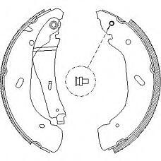 ROADHOUSE 410800 (4055724 / 4143208) колодки торм.барабанные